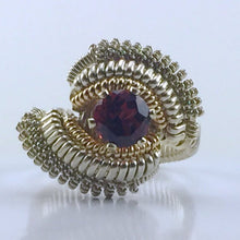 Load image into Gallery viewer, Coil Wire Wrapped Almandine Garnet Ring