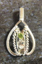Load image into Gallery viewer, White Topaz and Peridot Classic Amulet