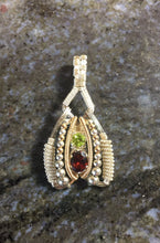 Load image into Gallery viewer, Wire Wrapped Pendant (Almandine Garnet, Peridot)