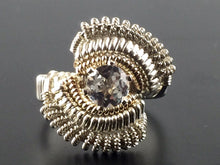 Load image into Gallery viewer, Wire Wrapped Indian White Topaz Ring (Size 6) Argentium Silver 14 Karat Gold Filled Wire Wrapped Jewelry