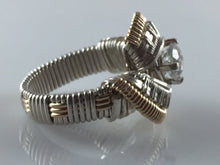 Load image into Gallery viewer, Spartan White Topaz Wire Wrapped Ring