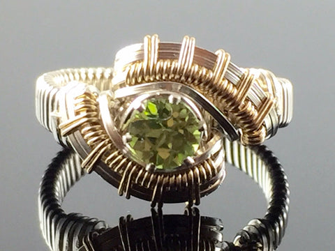 Tribe Peridot Wire Wrapped Ring