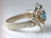 Load image into Gallery viewer, Orion Swiss Blue Topaz Ring
