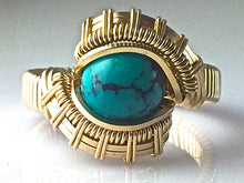 Load image into Gallery viewer, Tribe Chinese Turquoise Ring