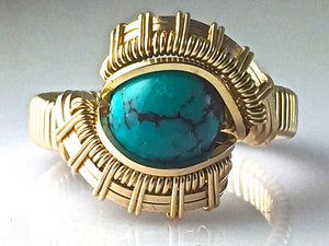 Tribe Chinese Turquoise Ring
