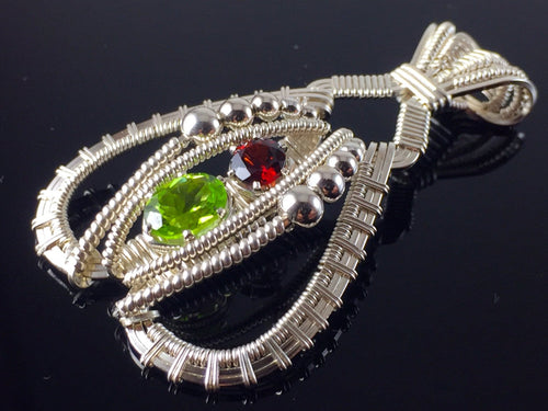 Peridot and Garnet Tribe Amulet