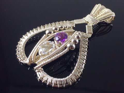 Topaz and Amethyst Tribe Amulet