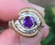 Load image into Gallery viewer, Spartan Amethyst Wire Wrapped Ring