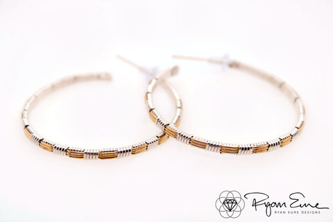 Classic Woven Hoop Earrings