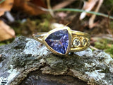 Tanzanite Flow Series Modern Trillion