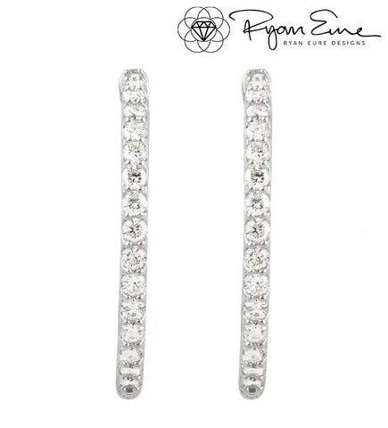 Inside/Outside Diamond Hoops 1.75 Carats