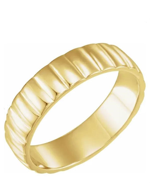 Grooved Pattern Wedding Band