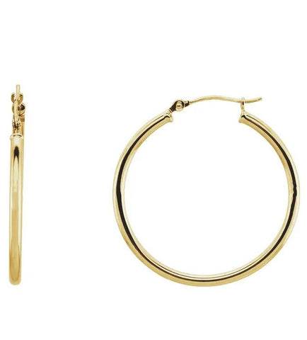 Medium Classic Gold Tube Earrings