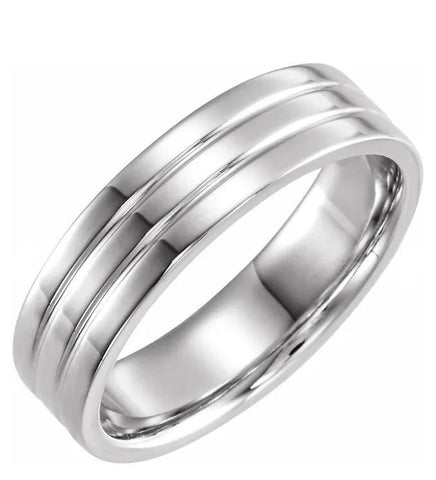 Shared Path Men's Wedding Band