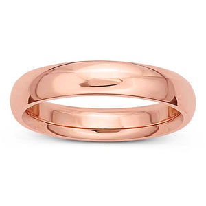 5 mm Rose Gold Classic Comfort Fit Wedding Band