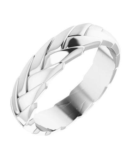 Woven Men's Wedding Band