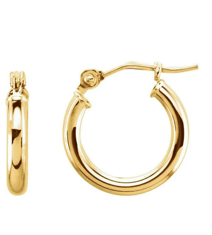Small Classic Gold Tube Earrings