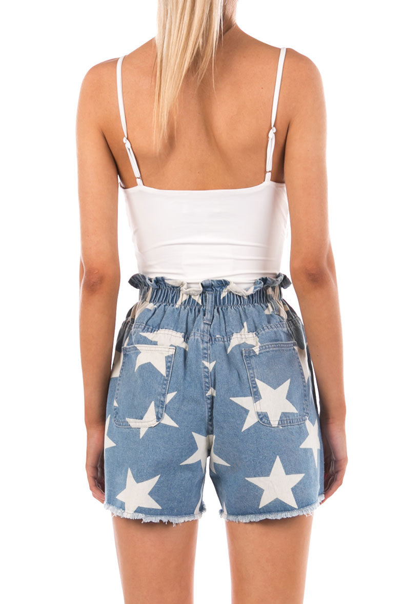 DENIM STAR SHORTS