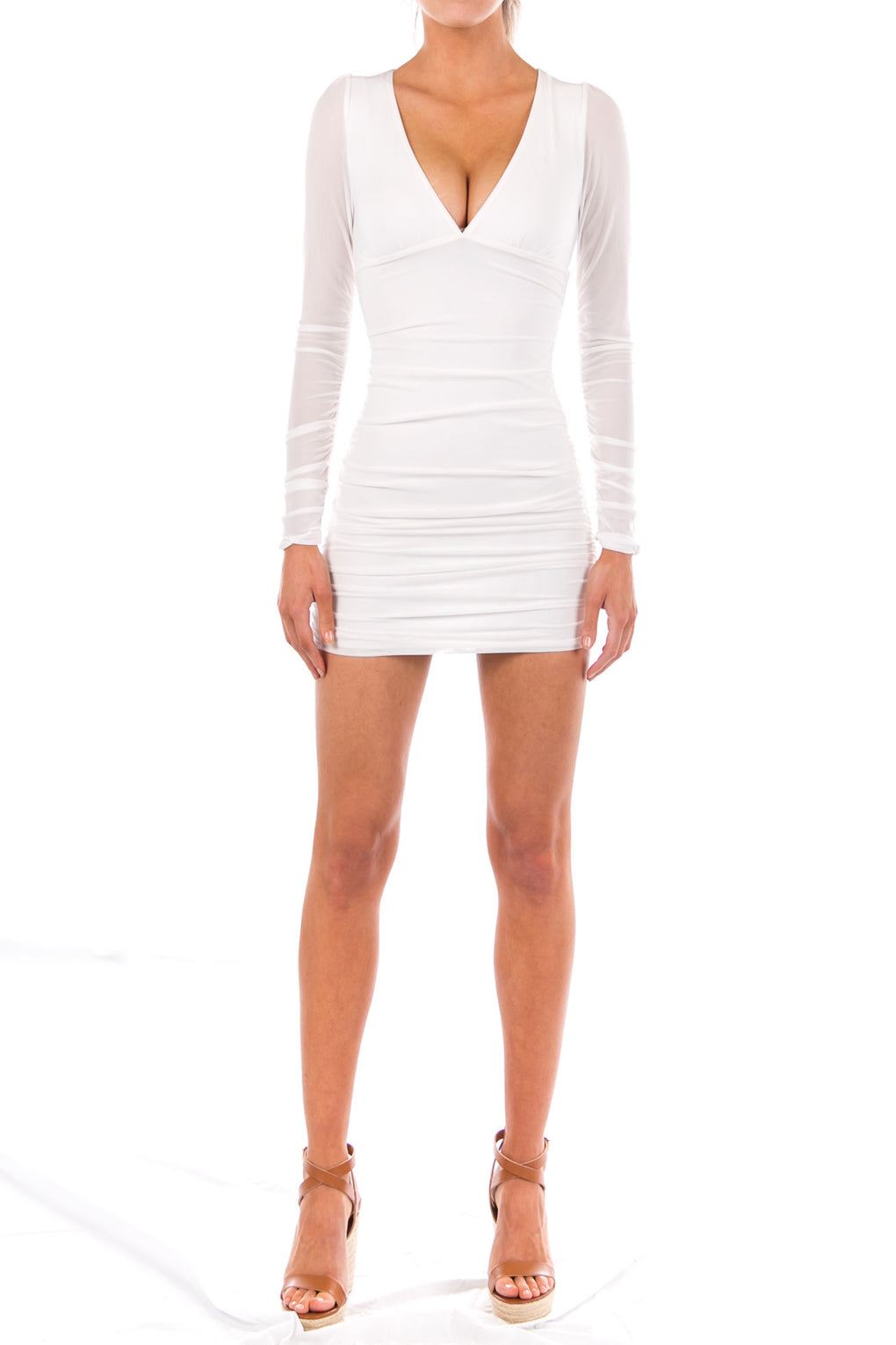 PRETTY WHITE THANG DRESS