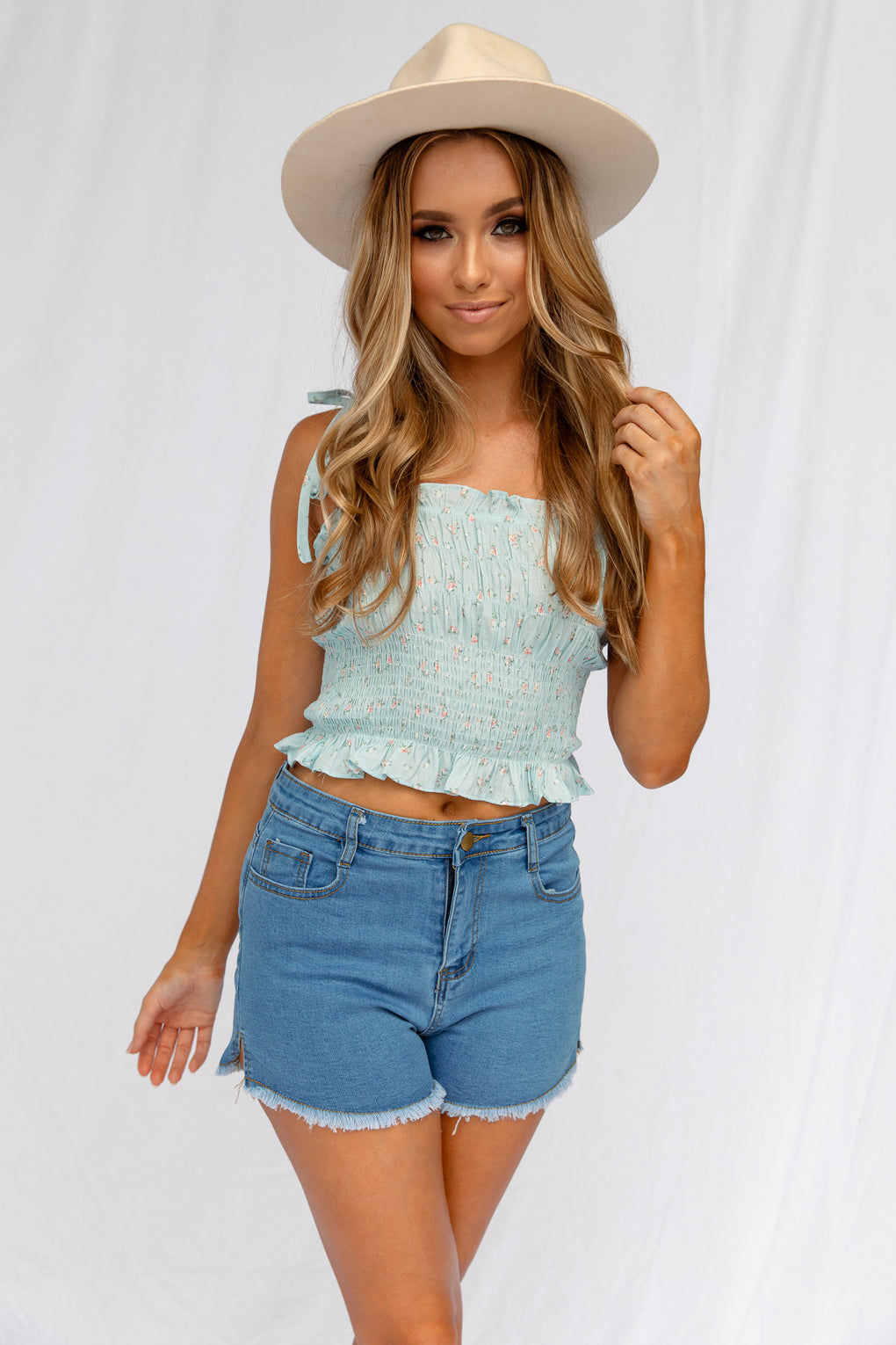 CHESHIRE DENIM SHORTS