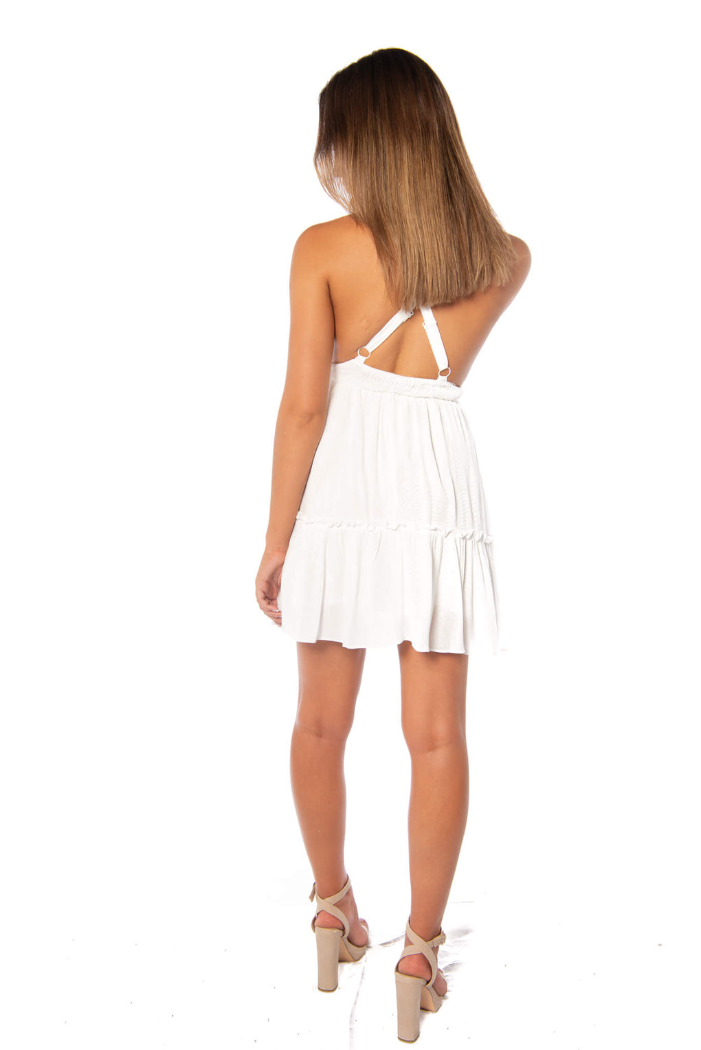 LETTERS DRESS - WHITE