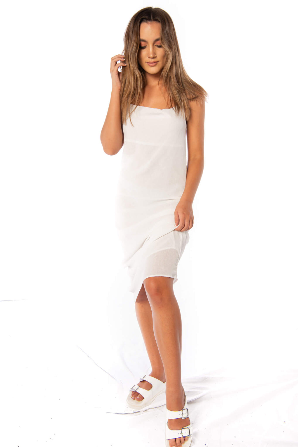 BUTLER DRESS - WHITE