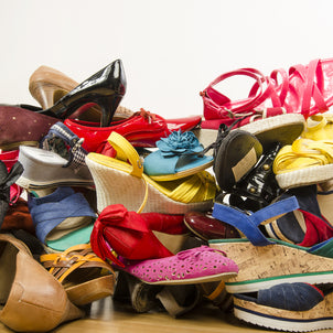 That's a big pile of shoes!