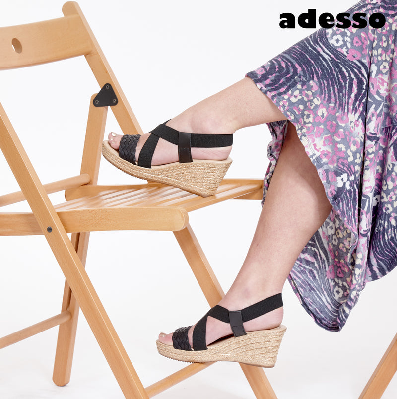 Adesso-Alicia-Black-Wedge-A4232