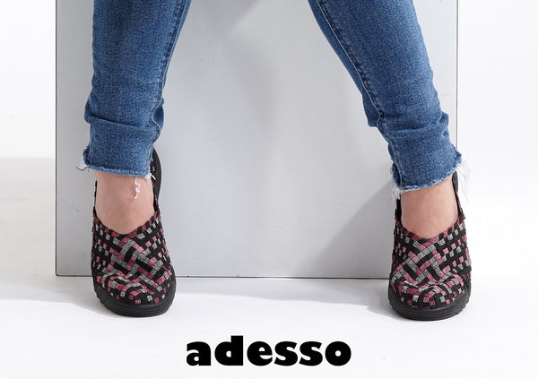 Adesso-Caitlin-Cranberry-Metallic-Elastic-Full-Shoe-A5098