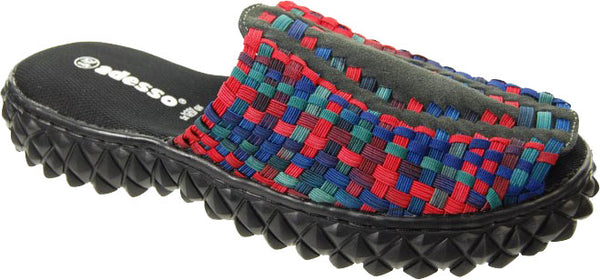 Adesso-Isaac-Red-Blue-Multi-Elastic-Mens-Mule-Sandal-A2481