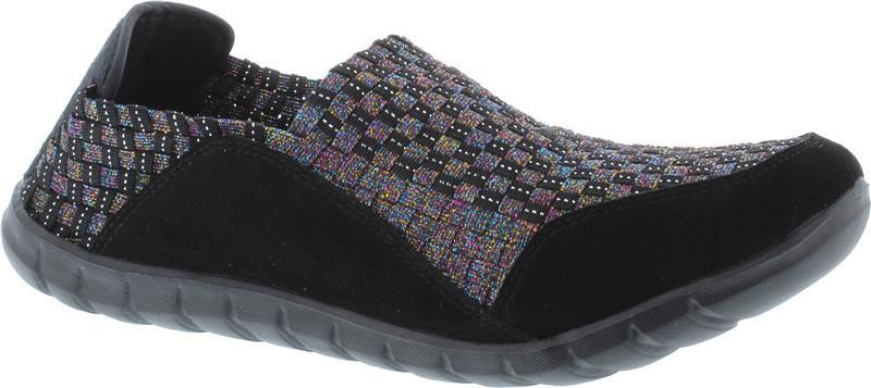 Adesso-Mia-Black-Metallic-Multi-Elastic-Shoe-A5101