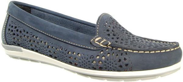 Capollini Danika Navy Loafer Shoe C709