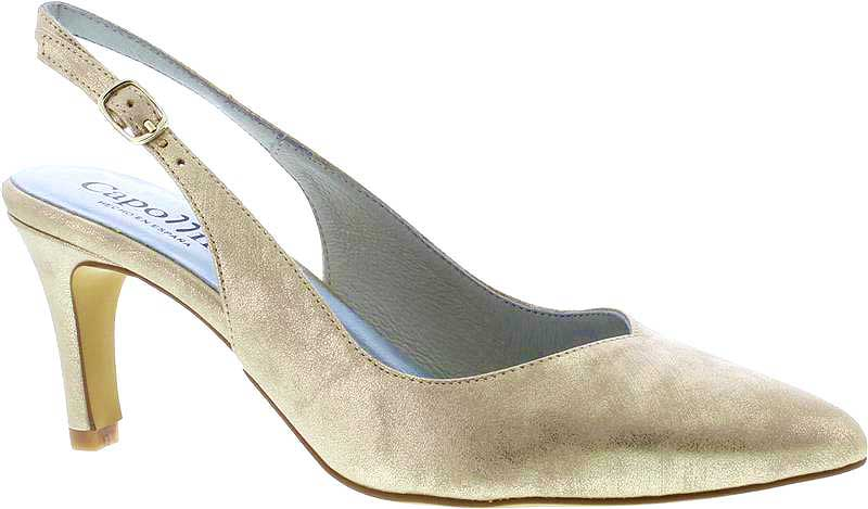 Capollini-Catherine-Gold-Occasion-Wear-Sling-Back-Shoe-G527