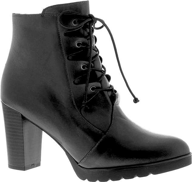 Capollini-Darcey-Black-Lace-Up-Heel-Ankle-Boot-G556