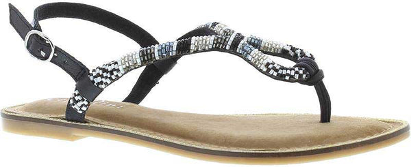 Capollini-Delphine-Black-White-Multi-Toe-Post-Sandal-E589