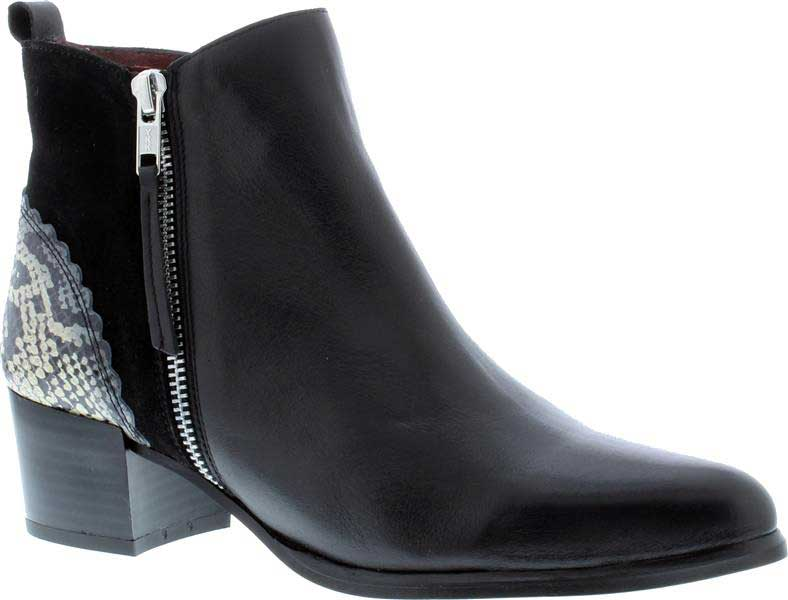 Capollini-Delta-Black-Snake-Ankle-Boot-G540
