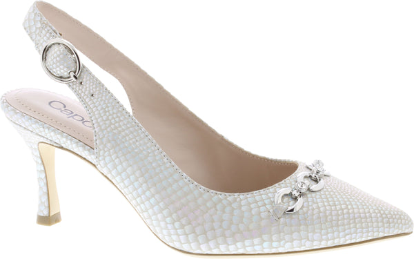 Capollini-Eloise-Pearl-Occasion-wear-Sling-Shoe-H597