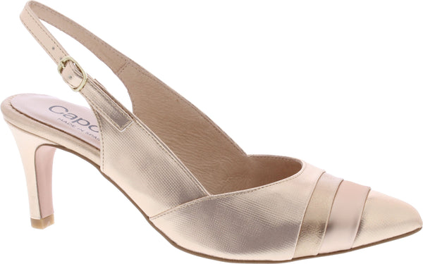 Capollini-Laura-Rose-Gold-Occasion-wear-Sling-Shoe-H509