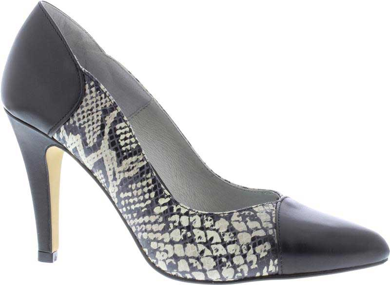 Capollini-Rayna-Black-Snake-Court-Shoes-G521