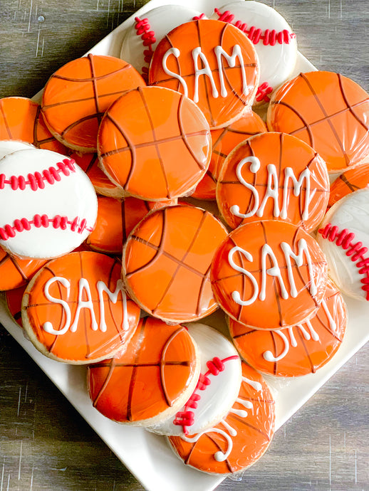 Sam's Bar Mitzvah - Custom Cookies