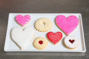 Kosher Cookie Gift Box Love Hearts