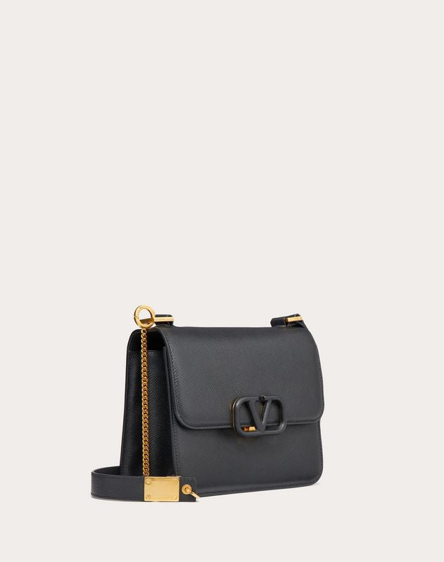 VALENTINO - SMALL VSLING GRAINY CALFSKIN SHOULDER BAG