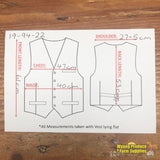 Apollo Vest S: 14/16 Brown Pattered