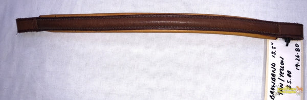 Browband 13.5 Tan/yellow