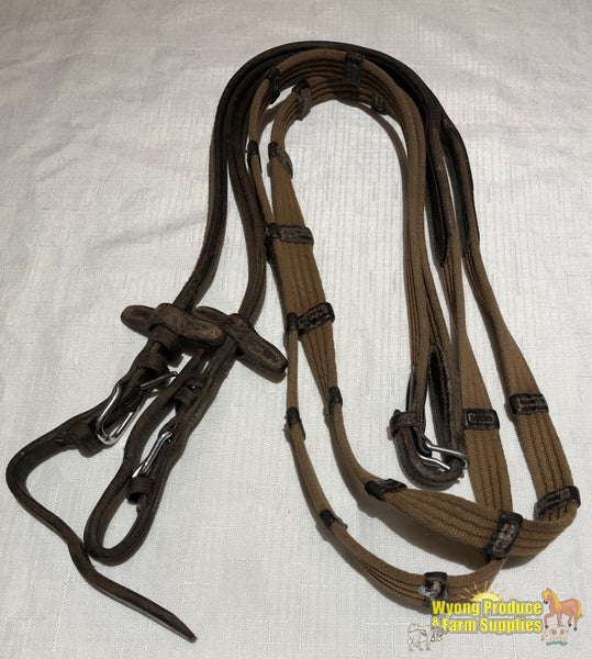 Cwd Webbed Jump Reins Brown