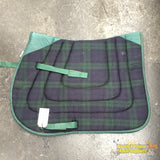 Gl Ranch Saddlecloth Cob Navy/green (200475)