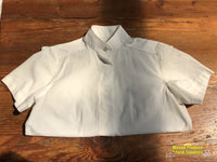J.allard S/sleeve Shirt Ladies 8 White (212806)