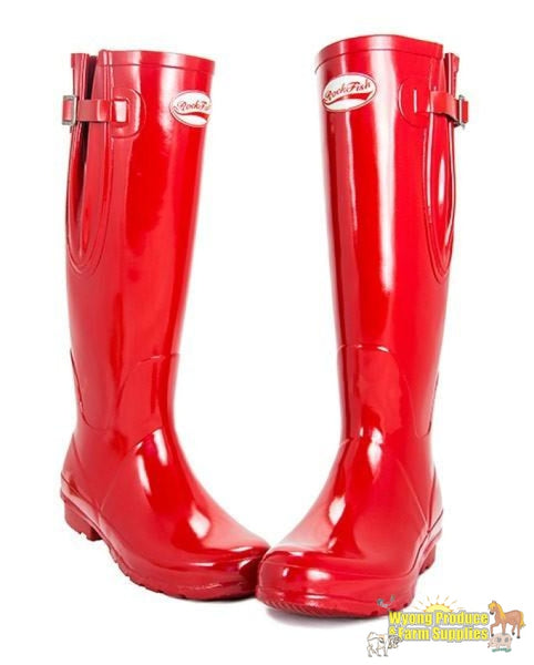 Rockfish Ladies Tall Gumboots - Samba Red (S: 6)