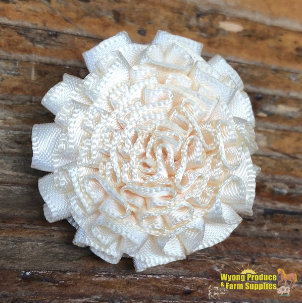Small Carnation Lapel Pin Cream