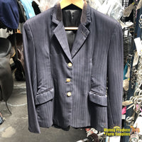 Snowy River Jacket Ladies 10 Navy Pinstripe (086817)